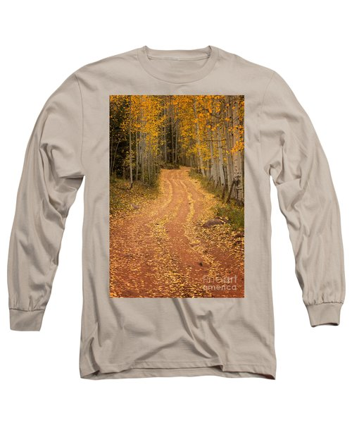 The Pathway To Fall Long Sleeve T-Shirt by Ronda Kimbrow