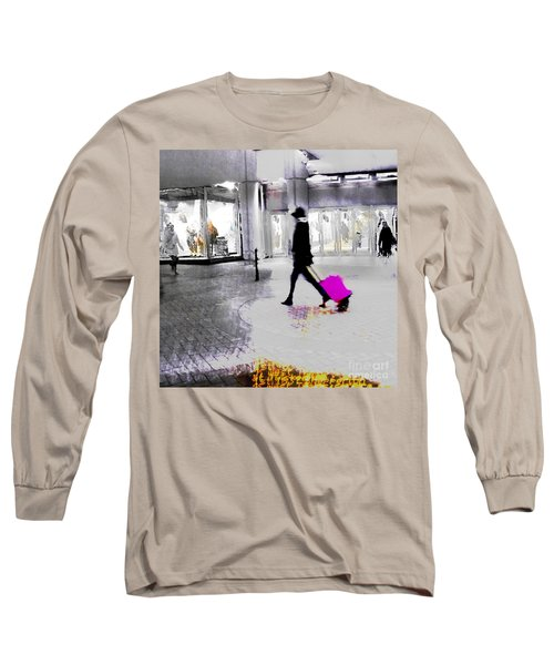 Long Sleeve T-Shirt featuring the photograph The Pink Bag by LemonArt Photography