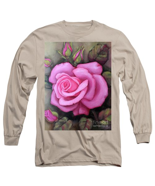 The Pink Dream Rose Long Sleeve T-Shirt