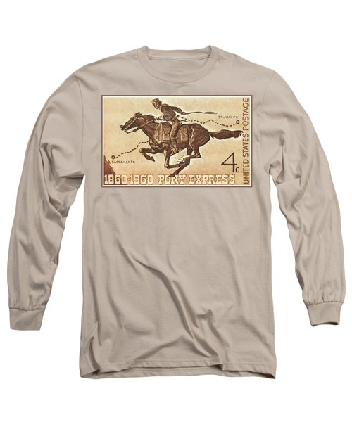 The Pony Express Centennial Stamp Long Sleeve T-Shirt