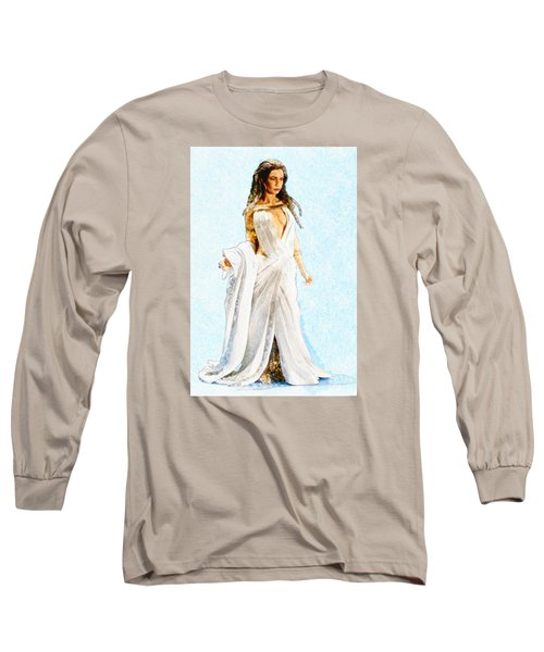 The Queen Long Sleeve T-Shirt by David Stasiak