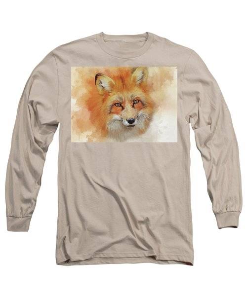 The Red Fox Long Sleeve T-Shirt by Brian Tarr