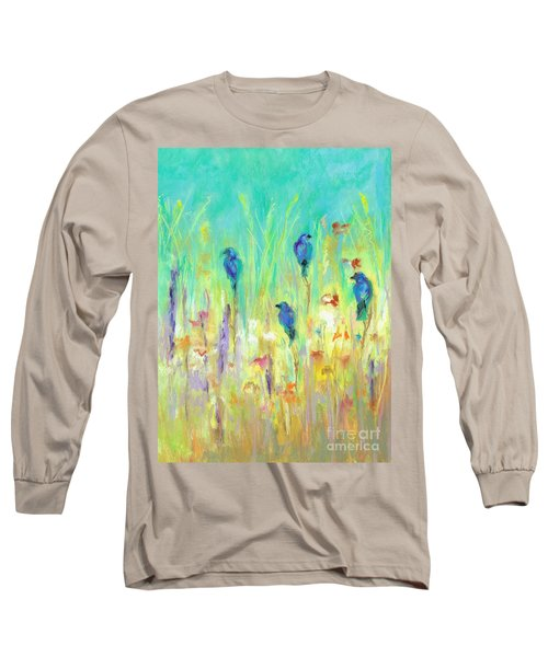 Long Sleeve T-Shirt featuring the painting The Resting Place by Frances Marino