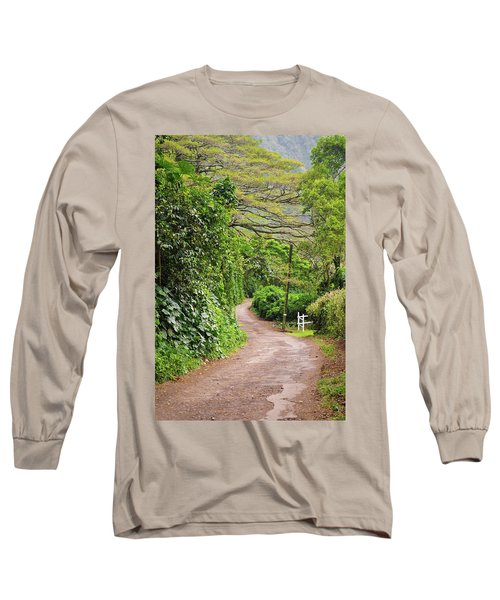 The Road Less Traveled-waipio Valley Hawaii Long Sleeve T-Shirt