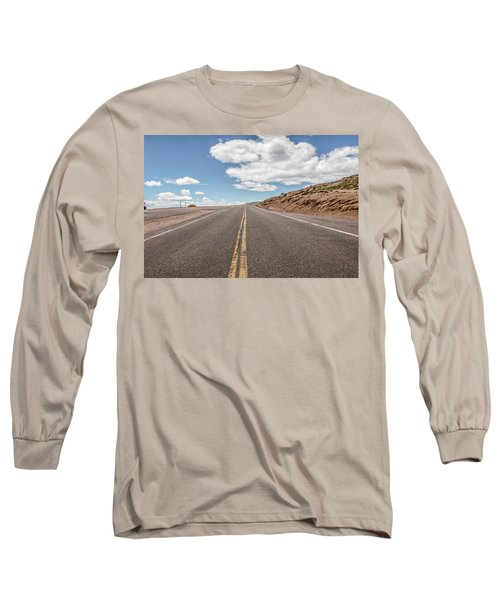 The Road Up Pikes Peak At Around 12,000 Feet Long Sleeve T-Shirt by Peter Ciro