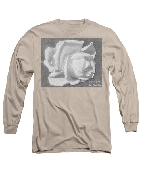 Long Sleeve T-Shirt featuring the digital art The Rose by Saribelle Rodriguez