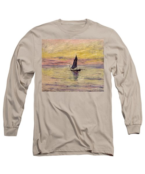 The Sailing Boat Evening Effect Long Sleeve T-Shirt