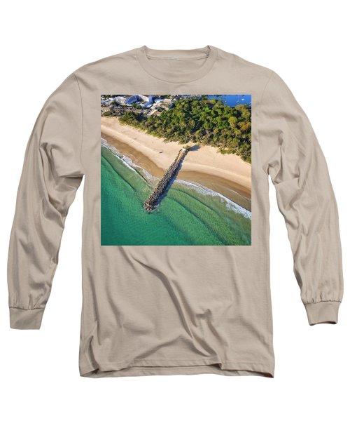 The Sea Wall Near Noosa Main Beach Long Sleeve T-Shirt