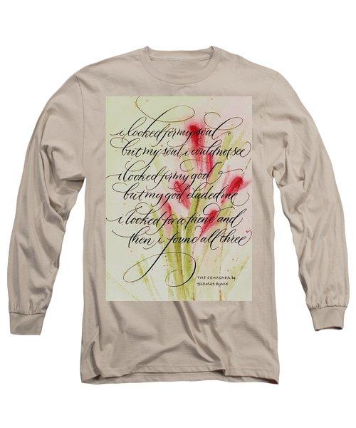 The Searcher By Thomas Blake Long Sleeve T-Shirt