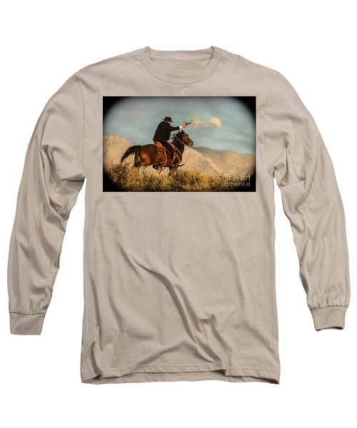 The Sharp Shooter Western Art By Kaylyn Franks Long Sleeve T-Shirt