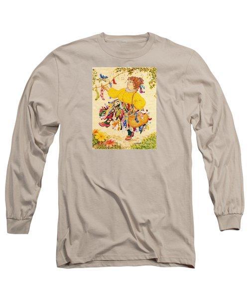 The Sock Lady Long Sleeve T-Shirt by Dee Davis