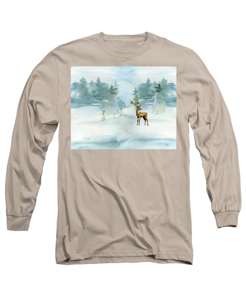 The Soft Arrival Of Winter Long Sleeve T-Shirt by Colleen Taylor