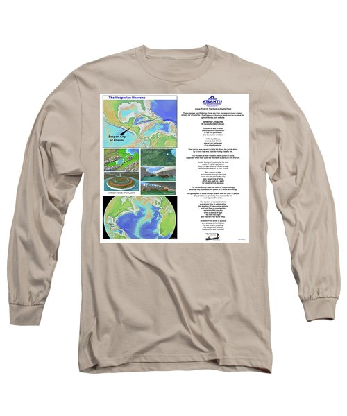 The Spirit Of Atlantis Poem Long Sleeve T-Shirt