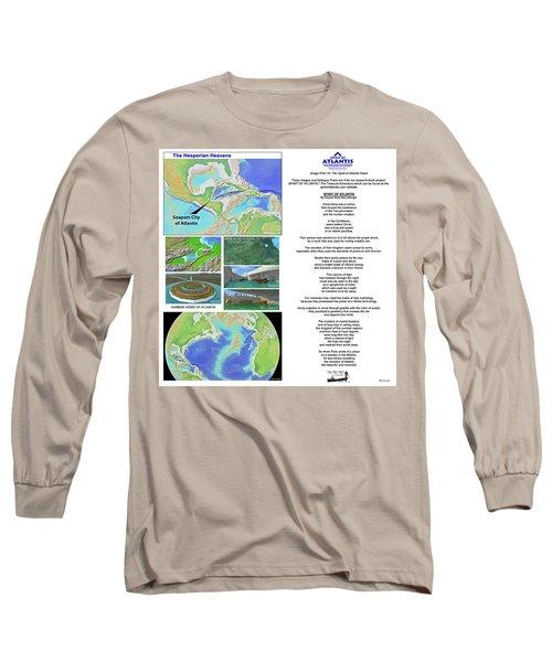 The Spirit Of Atlantis Poem Long Sleeve T-Shirt