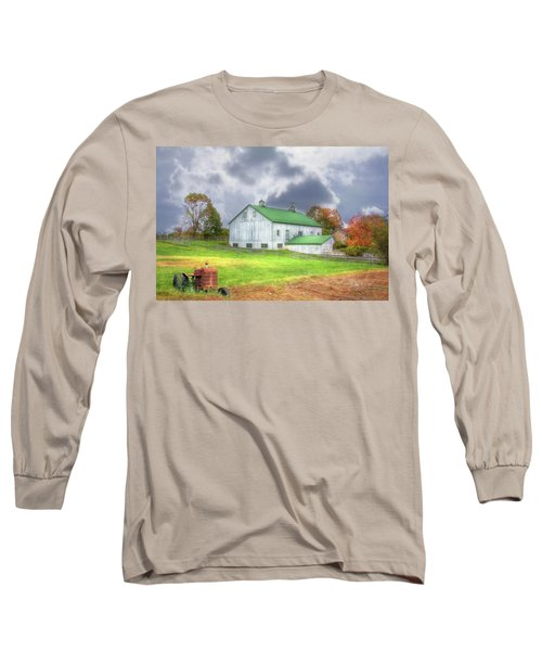 Long Sleeve T-Shirt featuring the digital art The Storms Coming by Sharon Batdorf