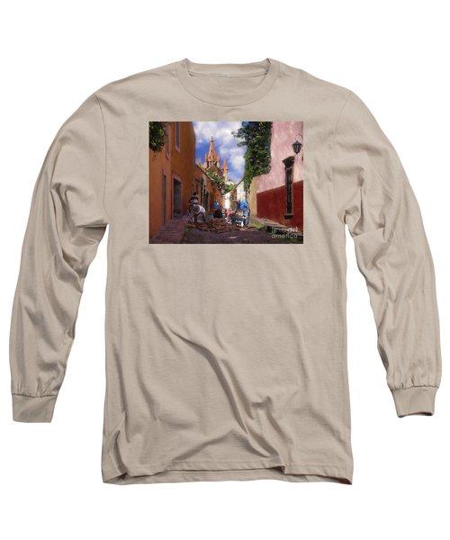 The Street Workers Long Sleeve T-Shirt by John  Kolenberg
