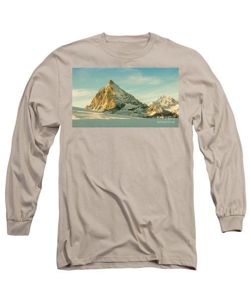 The Sun Sets Over The Matterhorn Long Sleeve T-Shirt