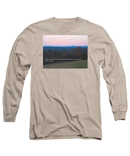 The Sun Will Rise Long Sleeve T-Shirt by Deborah Dendler