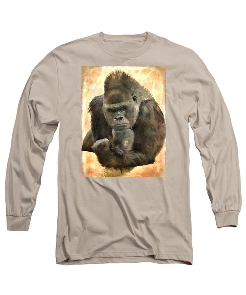 The Thinker Long Sleeve T-Shirt by Diane Alexander