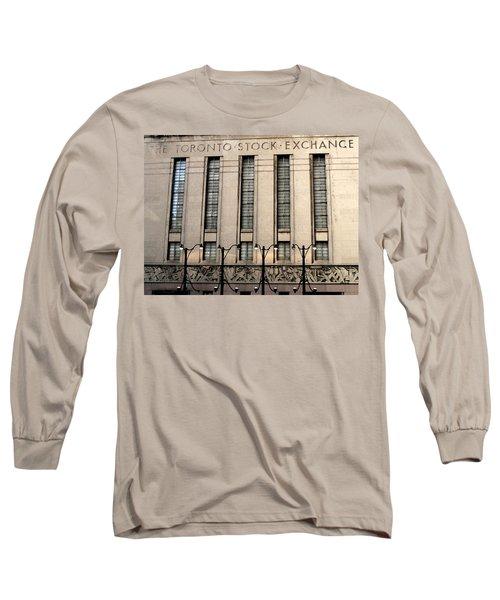 The Toronto Stock Exchange Long Sleeve T-Shirt by Ian  MacDonald