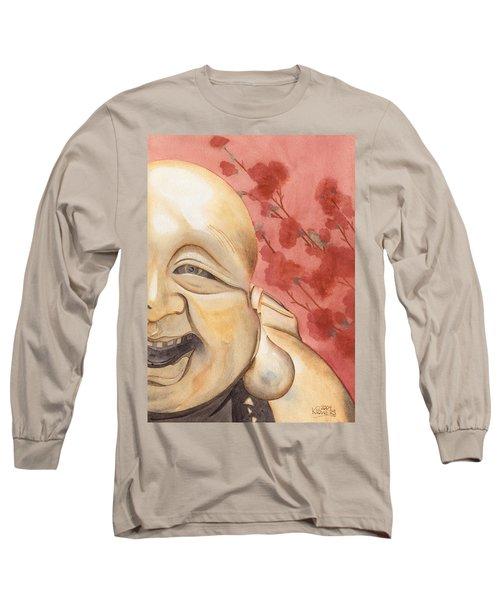 The Travelling Buddha Statue Long Sleeve T-Shirt