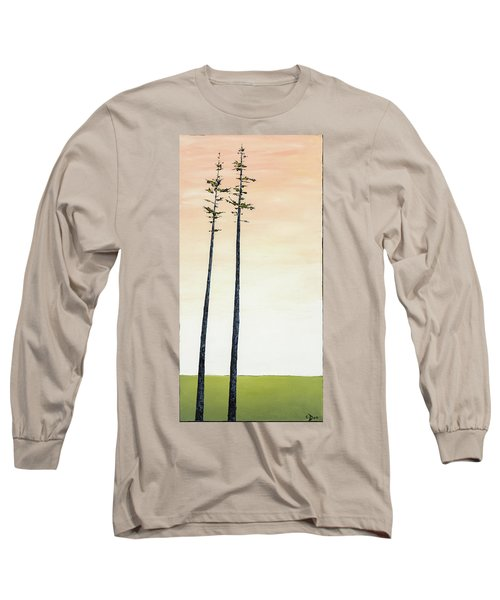 The Trees Are So Tall Here   Long Sleeve T-Shirt by Carolyn Doe