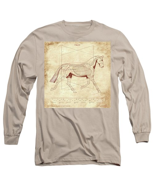 The Trot - The Horse's Trot Revealed Long Sleeve T-Shirt by Catherine Twomey
