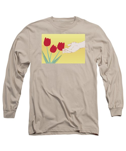 Long Sleeve T-Shirt featuring the digital art The Tulips by Milena Ilieva