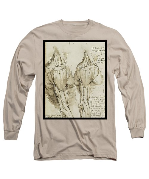 Long Sleeve T-Shirt featuring the painting The Upper Arm Muscles by James Christopher Hill