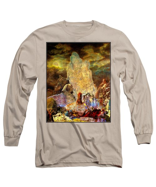 Long Sleeve T-Shirt featuring the painting The Valley Of Sphinks by Henryk Gorecki