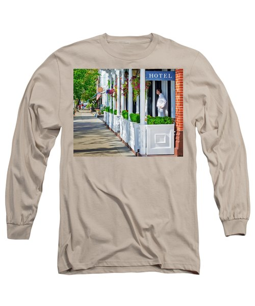 The Waiter Long Sleeve T-Shirt by Keith Armstrong