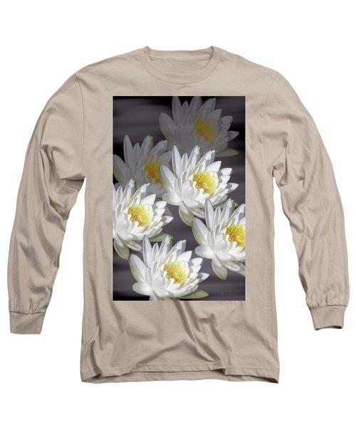 The White Garden Long Sleeve T-Shirt by Rosalie Scanlon
