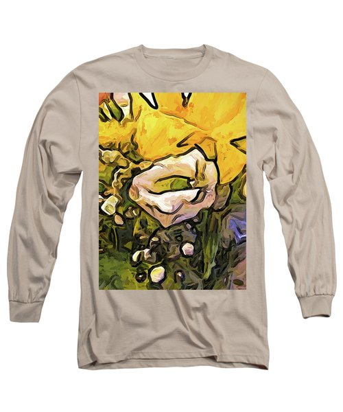 The White Rose With The Eye And Gold Petals Long Sleeve T-Shirt