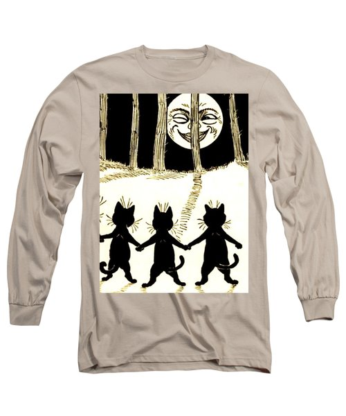 The Wink Six Black Pussy Cats Long Sleeve T-Shirt