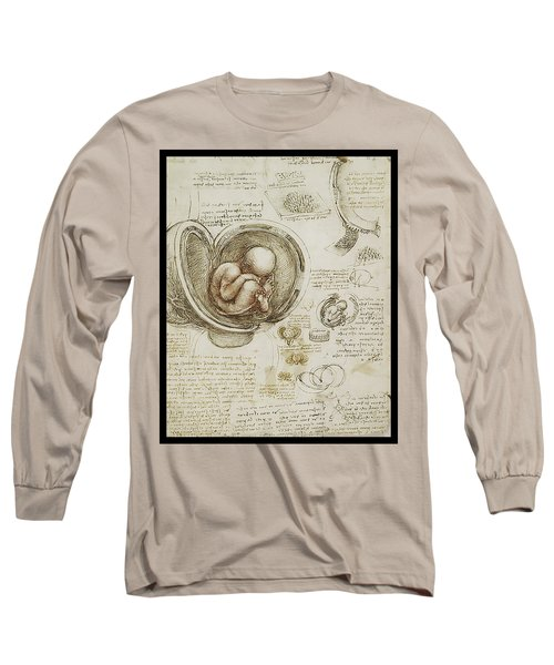 Long Sleeve T-Shirt featuring the painting The Womb And Embreyo  by James Christopher Hill