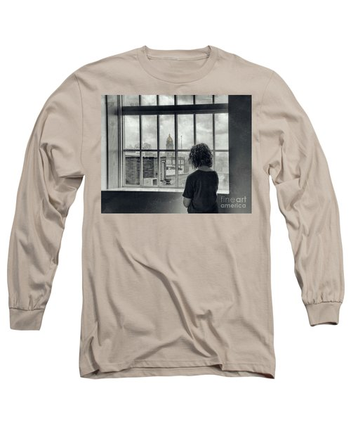 The World Outside My Window Long Sleeve T-Shirt by Laurinda Bowling