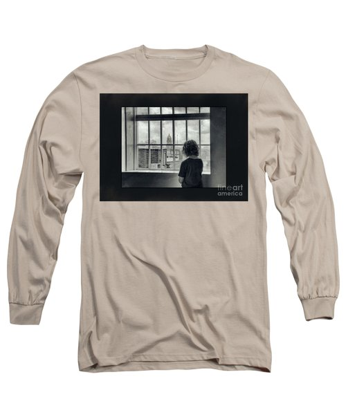 The World Outside My Window Number II  Long Sleeve T-Shirt by Laurinda Bowling