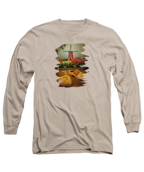 The Yellow Wooden Shoes Long Sleeve T-Shirt by Thom Zehrfeld