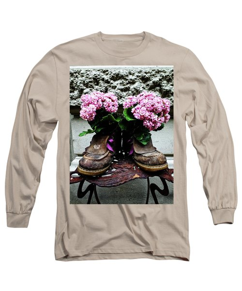 These Boots Are Made For Flowers Long Sleeve T-Shirt