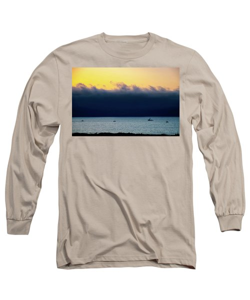 Long Sleeve T-Shirt featuring the photograph Thick Fog Blankets Sunset by Joseph Hollingsworth