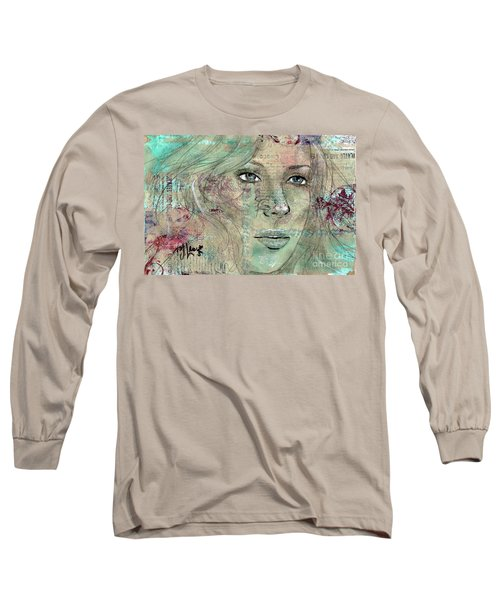 Thinking Back Long Sleeve T-Shirt by P J Lewis