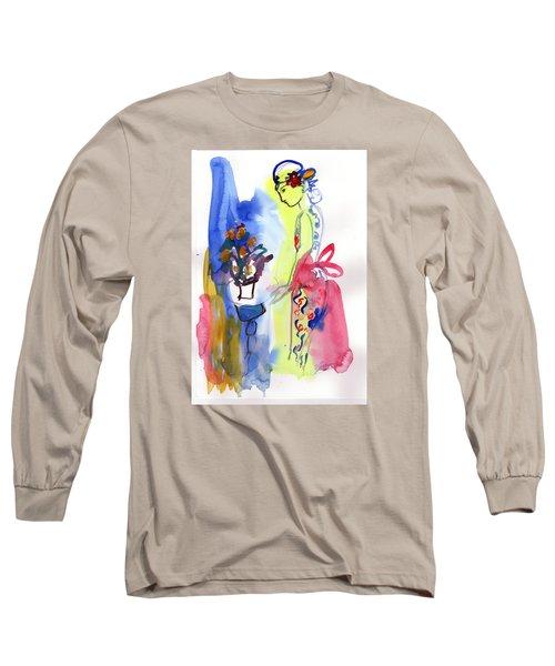 Thinking Of Tonight Long Sleeve T-Shirt by Amara Dacer