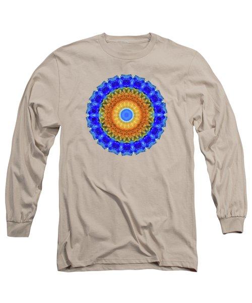 Third Eye Mandala Art By Sharon Cummings Long Sleeve T-Shirt by Sharon Cummings