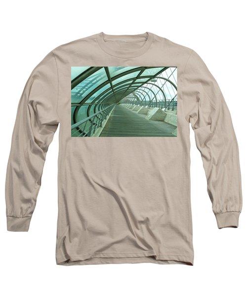 Third Millenium Bridge, Zaragoza, Spain Long Sleeve T-Shirt by Tamara Sushko