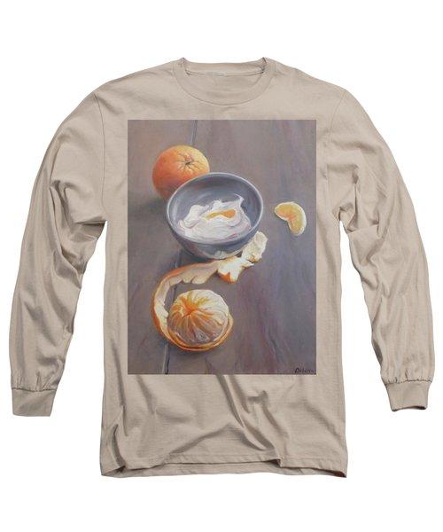 Fruit In Your Kitchen, Orange Long Sleeve T-Shirt