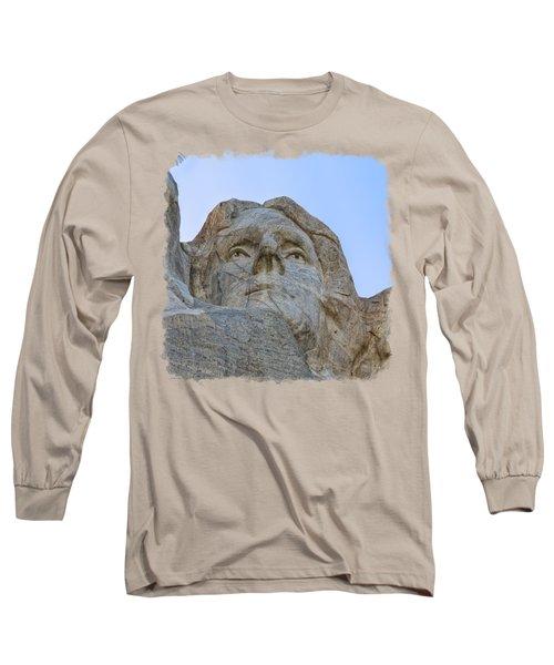 Thomas Jefferson 3 Long Sleeve T-Shirt by John M Bailey