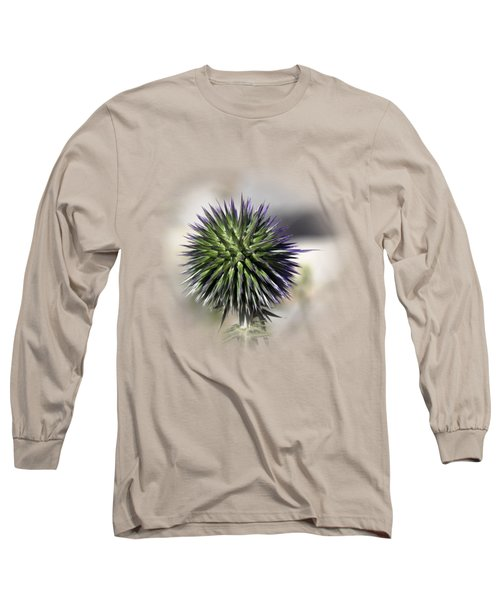Thorn Flower T-shirt Long Sleeve T-Shirt by Isam Awad