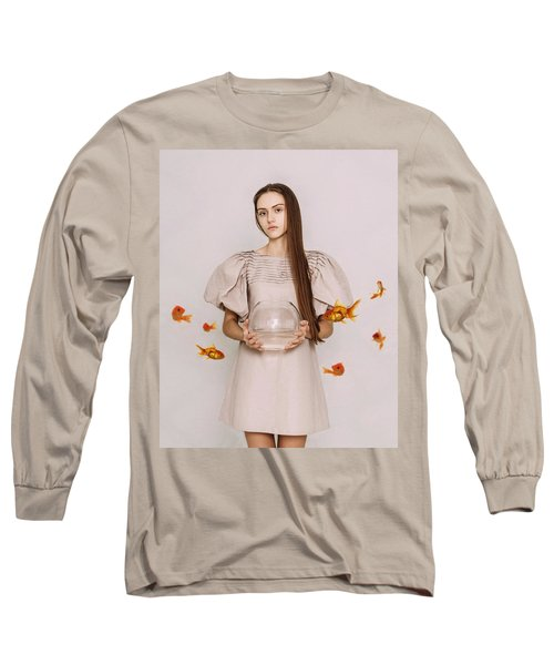 Thoughts Of Freedom. Series Escape Of Golden Fish  Long Sleeve T-Shirt