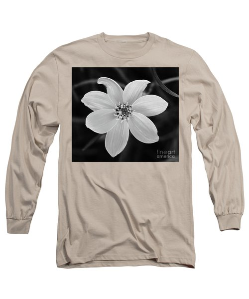 Threadleaf In Black And White Long Sleeve T-Shirt