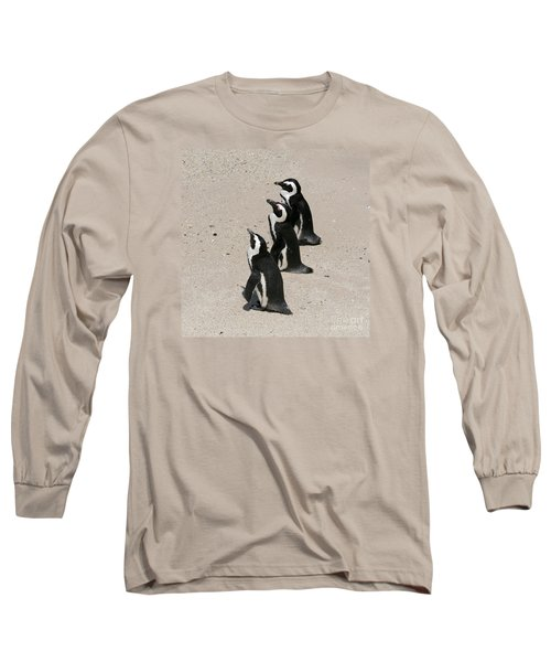 Three African Penguins Long Sleeve T-Shirt